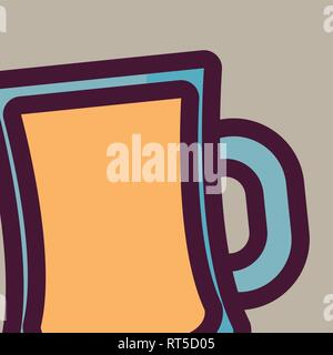 beer jar isolated icon vector illustration design - Stock Photo