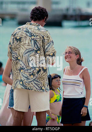 David Hasselhoff Baywatch Hawaiian Wedding 2003 Stock Photo Alamy