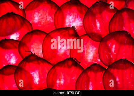 Slices of beetroot, close-up - Stock Photo