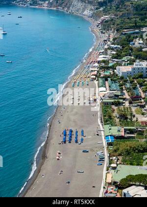 Italy, Campania, Naples, Gulf of Naples, Ischia Island, Maronti beach - Stock Photo