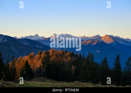 Germany, Bavaria, Upper Bavaria, Bavarian Alps near Lenggries, Isarwinkel - Stock Photo