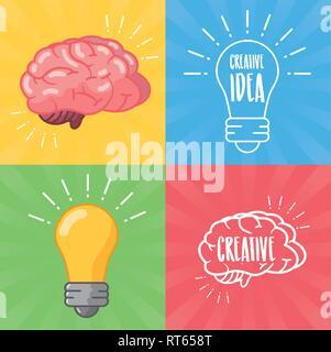 brain idea creativity - Stock Photo