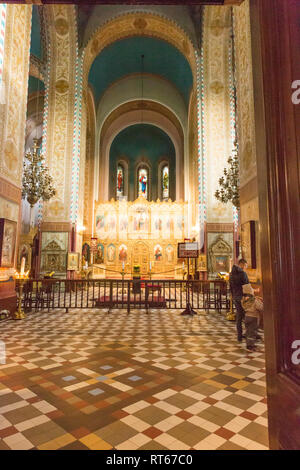 Europe, Eastern Europe, Baltic States, Estonia, Tallinn. Old town, St Nicholas church Altar. October 23, 2017. Editorial Use Only. - Stock Photo