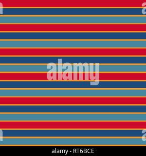 Vector seamless texture with ethnic colored horizontal stripes. EPS 10 - Stock Photo