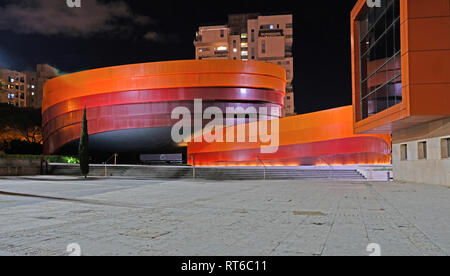 Holon ISRAEL 18.02.2019 : Design Museum Holon is museum in Israel. The building of the museum was planned and designed by Israeli architect and indust - Stock Photo