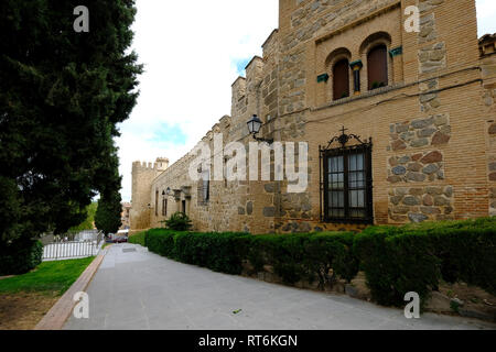 town wall, Toledo, Castilla la Mancha, Spain - Stock Photo
