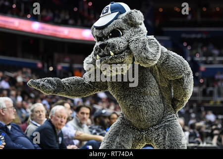 Washington, District of Columbia, USA. 27th Feb, 2019. Georgetown Hoyas mascot at Capital One Arena. Credit: Terrence Williams/ZUMA Wire/Alamy Live News - Stock Photo