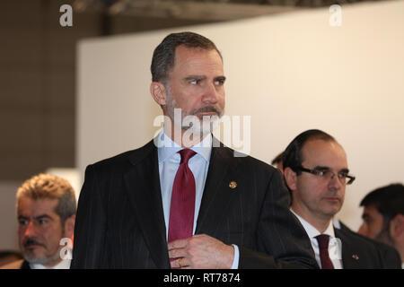 Madrid, Spain. 28th Feb, 2019. The King Felipe VI seen inaugurating the art fair ARCO 2019 Credit: Jesús Hellin/Alamy Live News - Stock Photo