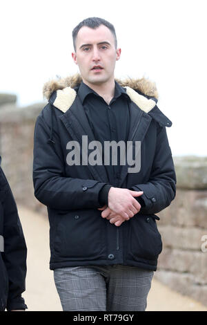 Inverness, Scotland, UK. 28th Feb 2019.   A hairdresser received a driving ban after he REPORTED HIMSELF for being drunk at the wheel.  29-year-old James Ewen from Aviemore pleaded guilty to driving his Ford Kuga while more than three times over the limit as he left the town's Cairngorm Hotel on the 2nd of February 2019.  Inverness Sheriff Court heard how Mr Ewen was involved in a minor collision on nearby Grampian Road.     Credit: Andrew Smith/Alamy Live News - Stock Photo