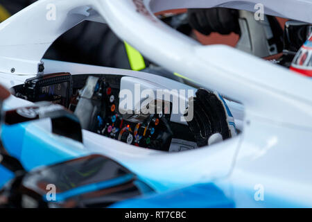 Montmelo, Barcelona, Spain. 28th Feb 2019.George Russel (Williams Racing) FW42 car, seen in action during the winter testing days at the Circuit de Catalunya in Montmelo (Catalonia). Credit: SOPA Images Limited/Alamy Live News - Stock Photo