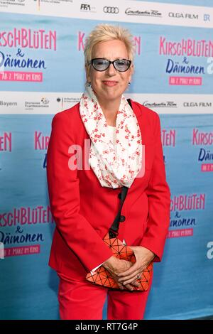 28 February 2019, Bavaria, München: Doris Dörrie, director, comes to the Astor Film Lounge for the premiere of the film 'Cherry Blossoms and Demons'. The film will be released in German cinemas on 07.03.2019. Photo: Tobias Hase/dpa Stock Photo