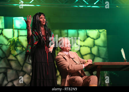 REGIETOW, POLAND - JULY 11, 2015:  The holiday meeting with the opera in Stud farm of Hucul pony Gladyszow in Regietow .Poland.  In this year this was - Stock Photo