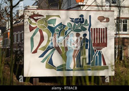 77/5000 Monument Sinai Center Amersfoort, the Netherlands, remembers Holocaust WO II - Stock Photo