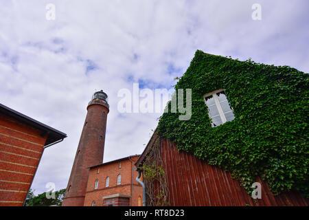 Germany, Mecklenburg-Western Pomerania, Zingst, Lighthouse Darsser Ort - Stock Photo