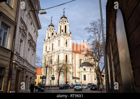 Lithuania, Vilnius. St Catherine's Church, originally belonging to a Benedictine convent, was rebuilt after a big fire in Vilnius in 1737. - Stock Photo