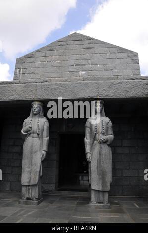 Njegos Mausoleum, Lovcen Nemzeti Park, Montenegro. - Stock Photo