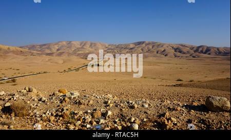 Wadi Rum Desert in Jordan - Stock Photo