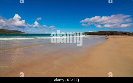 Balnakiel Bay near Durness, North Coast Scotland - Stock Photo
