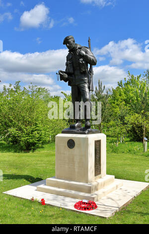 Durham Light Infantry Memorial at the National Memorial Arboretum in Staffordshire, England - Stock Photo