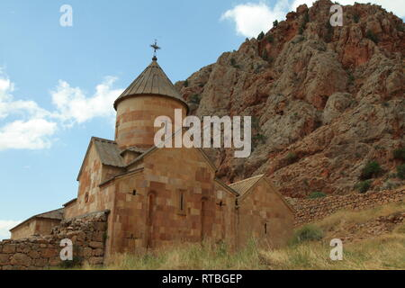 Christian church in mountains in Armenia - Stock Photo
