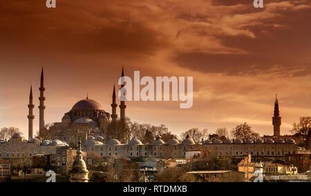 Suleymaniye Mosque, Istanbul, Turkey - Stock Photo
