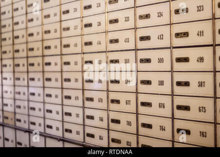 Private bank vaults - Stock Photo