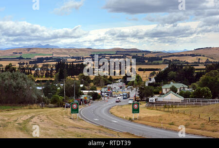Waikari, New Zeland - February 28, 2019: Waikari Township in North Canterbury, New Zealand on a Norwest Autumn day. - Stock Photo