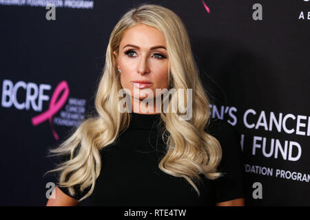 Beverly Hills, United States. 28th Feb, 2019. BEVERLY HILLS, LOS ANGELES, CA, USA - FEBRUARY 28: Paris Hilton arrives at The Women's Cancer Research Fund's An Unforgettable Evening Benefit Gala 2019 held at the Beverly Wilshire Four Seasons Hotel on February 28, 2019 in Beverly Hills, Los Angeles, California, United States. (Photo by Xavier Collin/Image Press Agency) Credit: Image Press Agency/Alamy Live News - Stock Photo