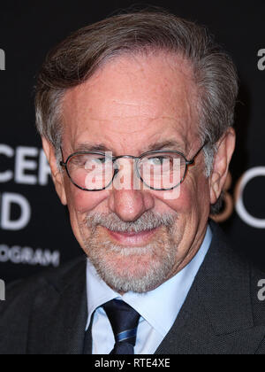 Beverly Hills, United States. 28th Feb, 2019. BEVERLY HILLS, LOS ANGELES, CA, USA - FEBRUARY 28: Director Steven Spielberg arrives at The Women's Cancer Research Fund's An Unforgettable Evening Benefit Gala 2019 held at the Beverly Wilshire Four Seasons Hotel on February 28, 2019 in Beverly Hills, Los Angeles, California, United States. (Photo by Xavier Collin/Image Press Agency) Credit: Image Press Agency/Alamy Live News - Stock Photo
