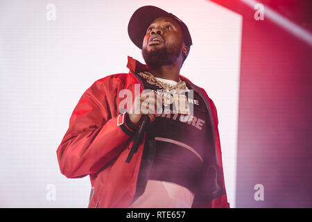 Los Angeles, Ca, USA. 28th Feb, 2019. Meek Mill at the Hollywood Palladium in Los Angeles, California on February 28, 2019. Credit: Steve Rose/Media Punch/Alamy Live News - Stock Photo