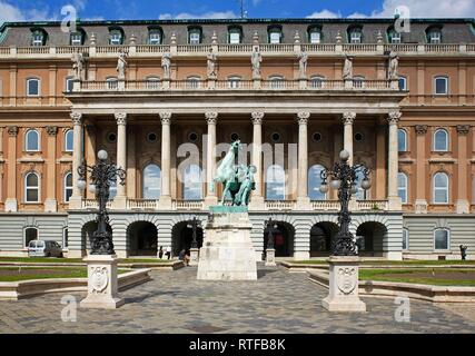 Hungarian National Gallery Magyar Nemzeti Galéria, Castle Palace, Castle District, Buda, Budapest, Hungary - Stock Photo