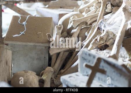 cimitero delle Fontanelle, Fontanel cemetery, in Naples, Italy - Stock Photo