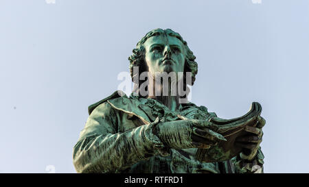 Friedrich Schiller statue, Vienna, Austria - Stock Photo