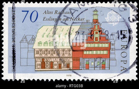 Postage stamp from the Federal Republic of Germany in the Europa (C.E.P.T.) 1978 - Architecture series - Stock Photo