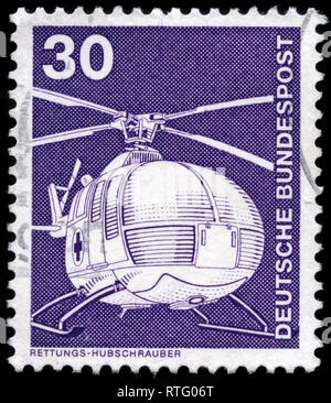 Postage stamp from the Federal Republic of Germany in the Industry and Technology Definitives 1975-1982 series issued in 1975 - Stock Photo