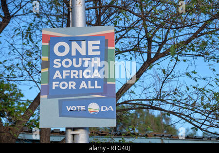 South African election poster for the May 2019 election for the Democratic Alliance, in Prince Albert - South Africa - February 2019 - Stock Photo