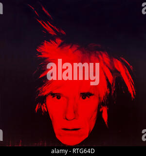 Self-Portrait, Andy Warhol, 1986, - Stock Photo