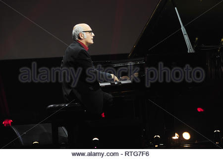 File photo dated 02/10/13 of composer Ludovico Einaudi, who will release seven albums in seven months, with each inspired by a series of winter walks he took in the Alps. - Stock Photo