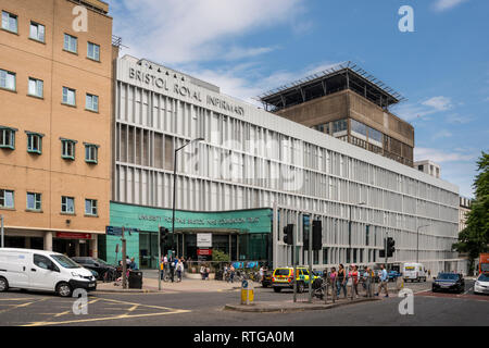 Bristol Royal Infirmary building, Bristol, UK - Stock Photo