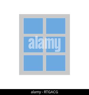 Simple window icon isolated on white background - Stock Photo