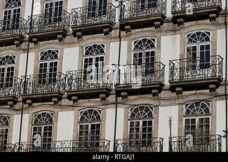 Background image of a classic facade (Porto, Portugal). - Stock Photo