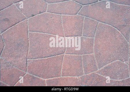 Orange concrete pavement texture on top view . background - Stock Photo