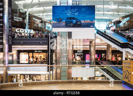The Westquay Shopping Centre in Southampton. - Stock Photo