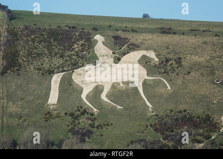 England, Dorset, Osmington White Horse - Stock Photo