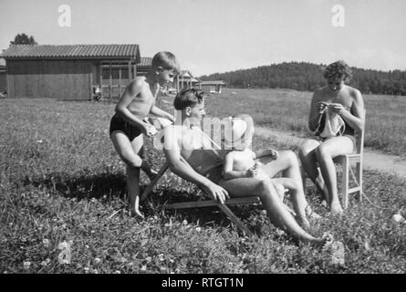 holiday in austria, 1962 - Stock Photo