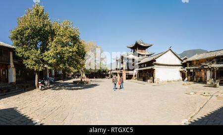 Sideng square, Shaxi, Yunnan, China - Stock Photo