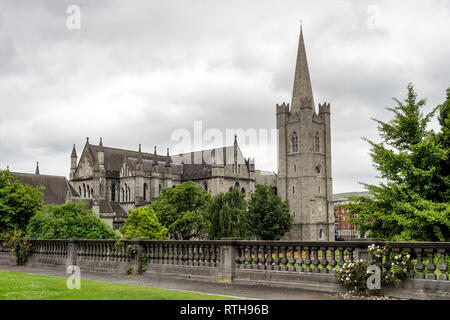 The Cathedral of the Holy Trinity, commonly known as Christ Church, Cathedral of the United Dioceses of Dublin and Glendalough, Ireland - Stock Photo