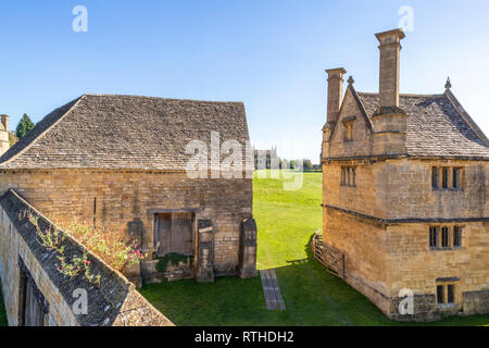 Some of the remining buildings of Campden House built by Sir Baptist Hicks in 1613 in the Cotswold town of Chipping Campden, Gloucestershire UK - Stock Photo