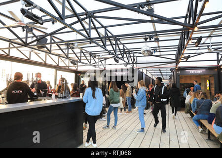 100a2bbda099b ... Shoreditch Boxpark in Bethnal Green, a shipping container pop-up mall,  for fashion