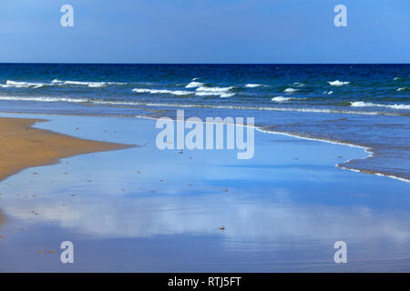 South China Sea beach near Tam Ky, Vietnam - Stock Photo